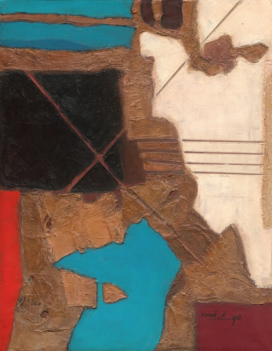 Umi Dachlan, Untitled, oil on canvas, 56 x 44 cm, 1990