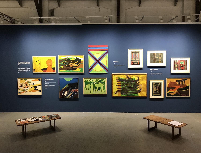 An image of Art Agenda, S.E.A.'s booth at Art Formosa, Taipei, Taiwan