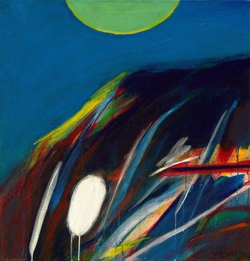 Chin Sung, Midnight, oil on canvas, 79 x 76 cm, 1990