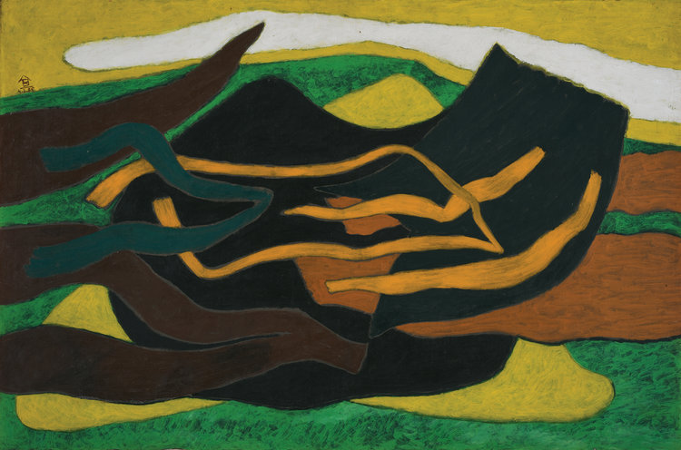 Nashar, Irama II, oil on canvas, 66.5 x 95 cm, 1985