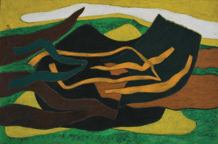 Nashar, Irama II, 1985, 66.5 x 95 cm