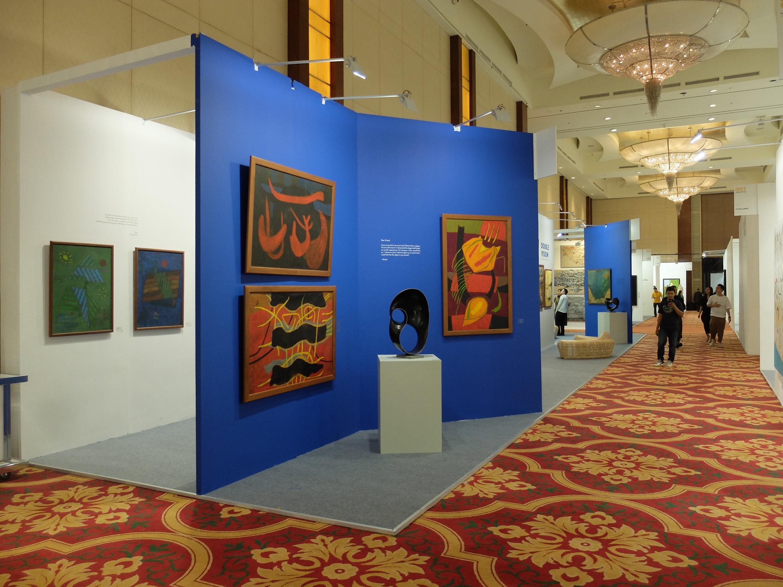 Art Agenda, S.E.A.'s booth at Art Jakarta 2018, featuring Nashar and Ahmad Osni Peii