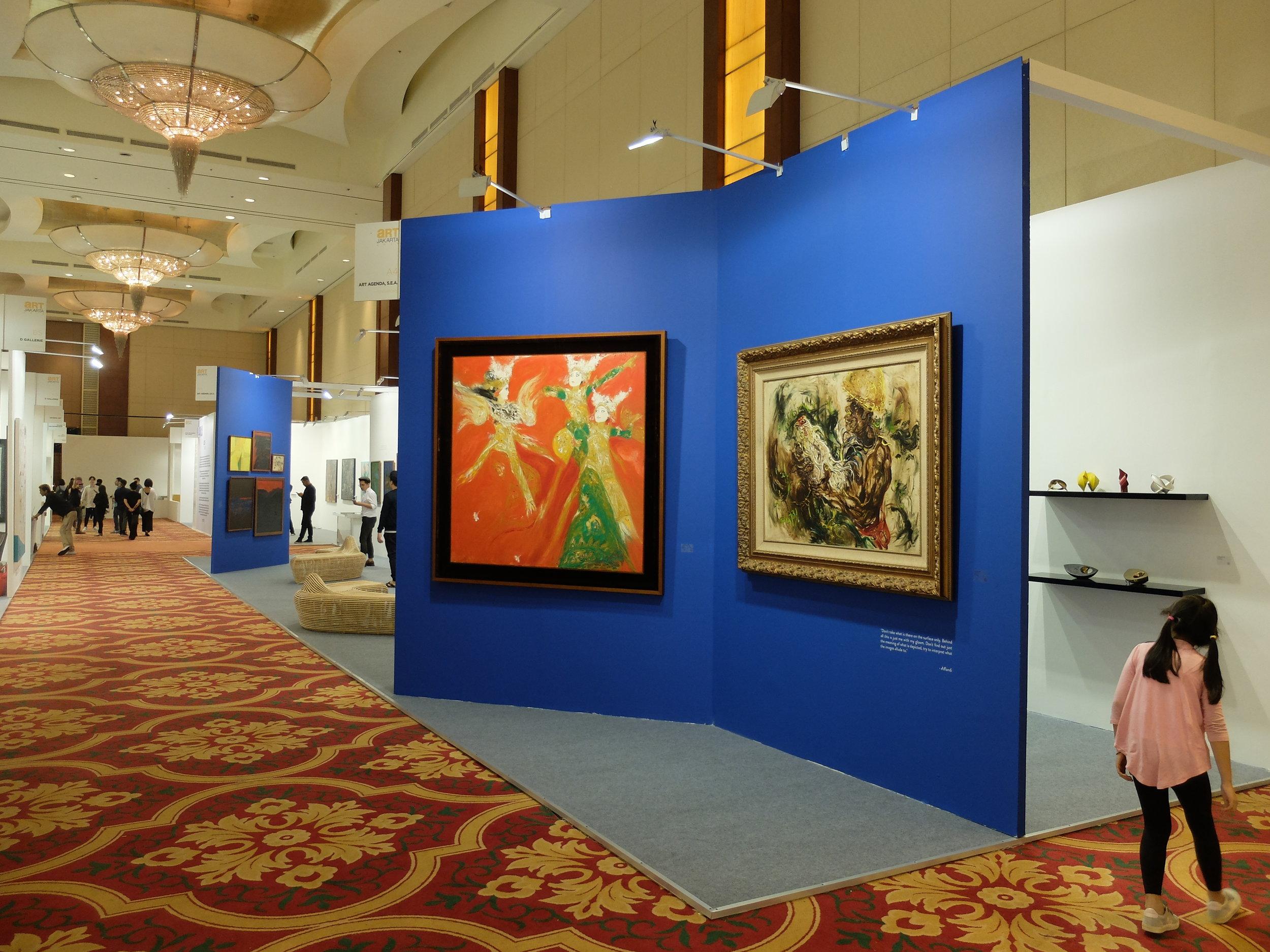 Art Agenda, S.E.A.'s booth at Art Jakarta 2018, featuring Srihadi Soedarsono and Affandi