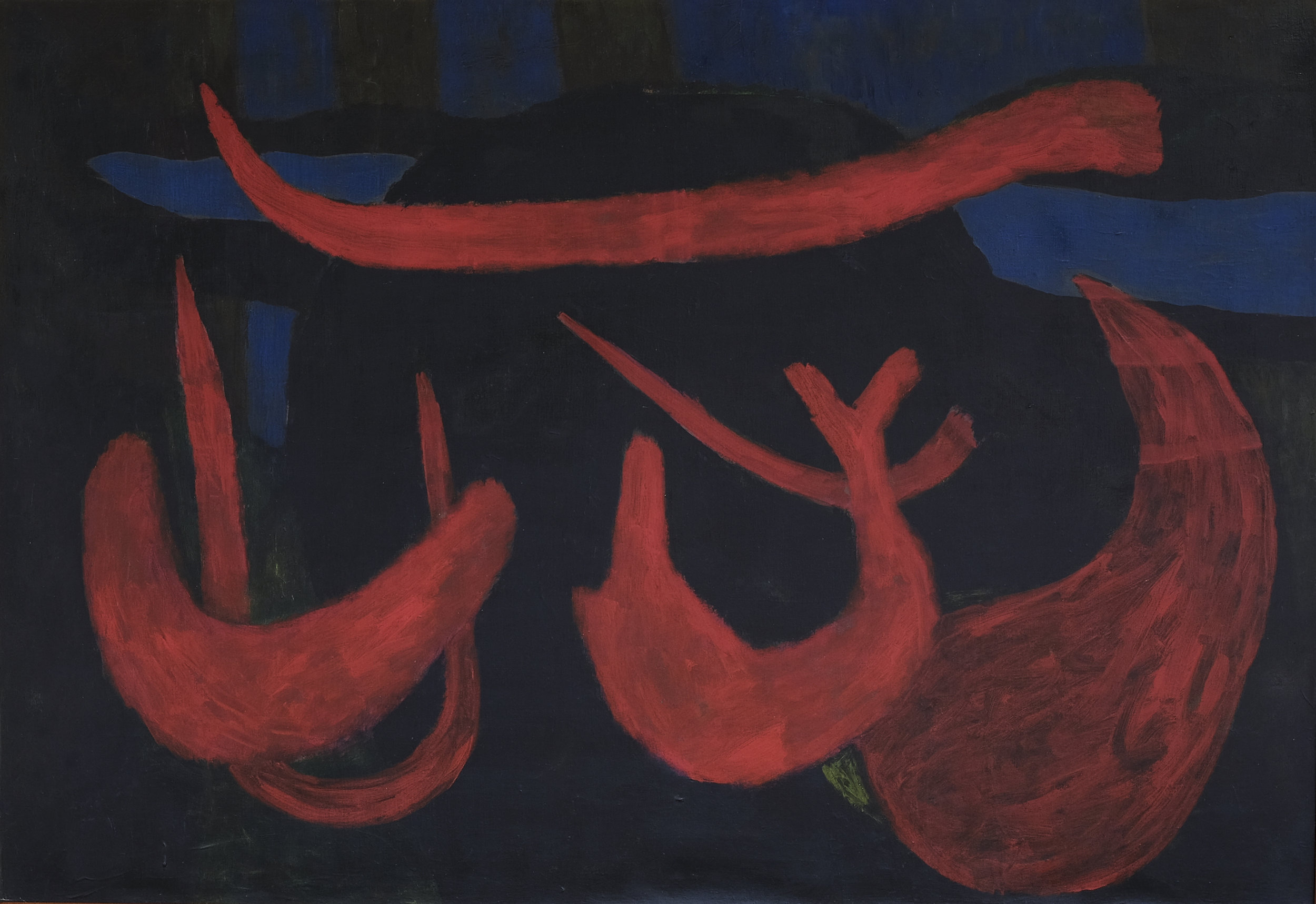 Nashar, Nyanyian Malam (Night Song), oil on canvas, 88 x 127 cm, 1977