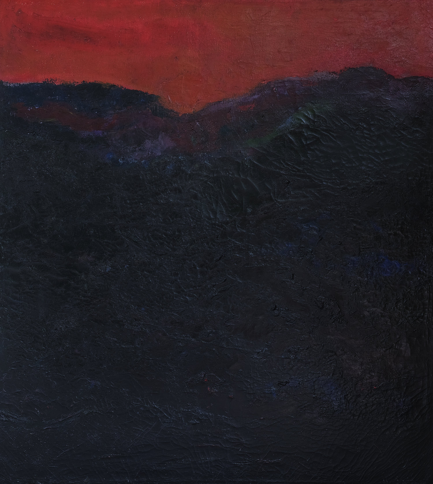 Popo Iskandar, Bukit Senja (Hills at Dusk), 1989, 90 x 100 cm