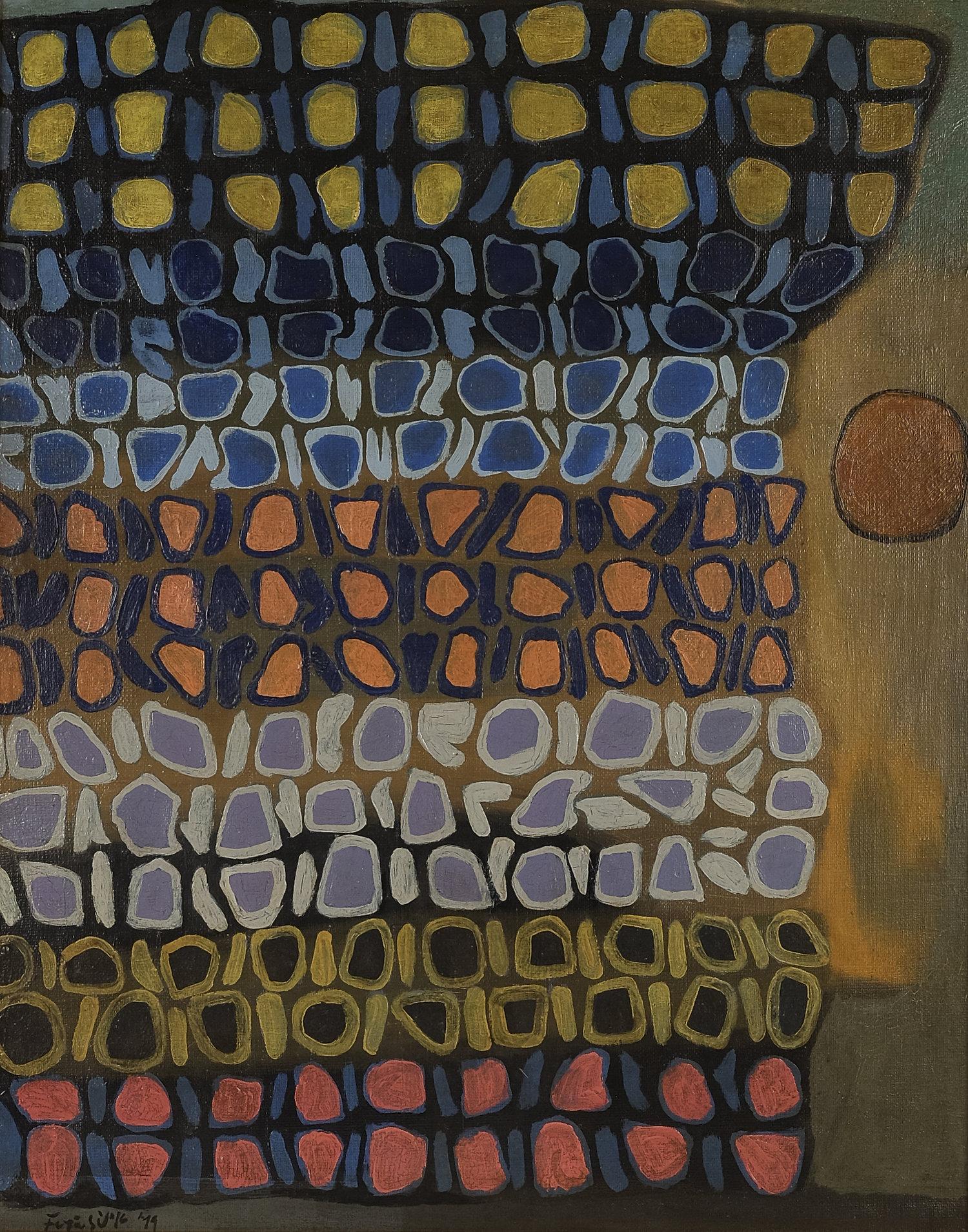 Fadjar Sidik, Dinamika Keruangan (Space Dynamics), 1979, 70 x 55 cm