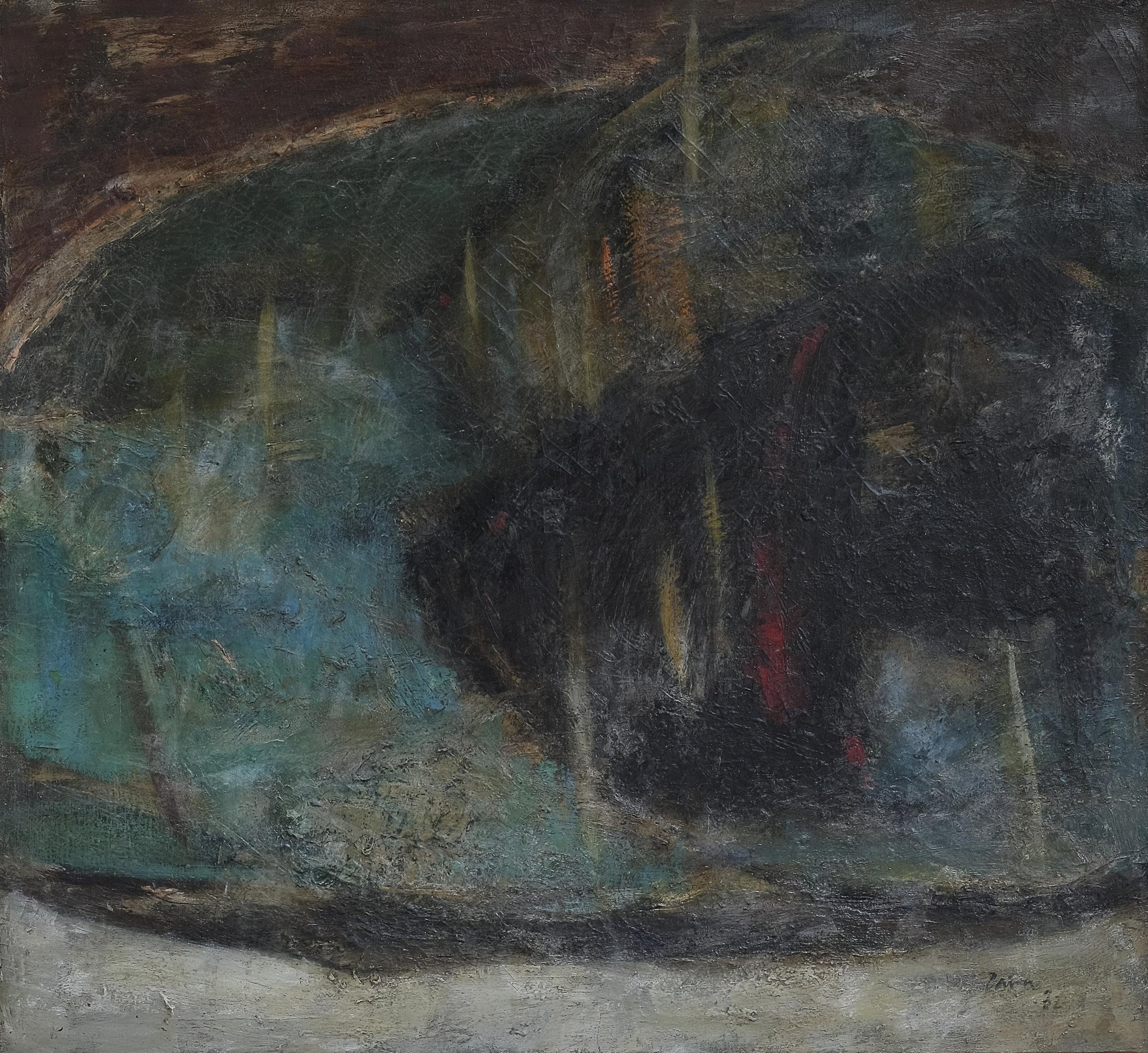 Zaini, Ikan (Fish), oil on canvas, 70 x 60 cm, 1975