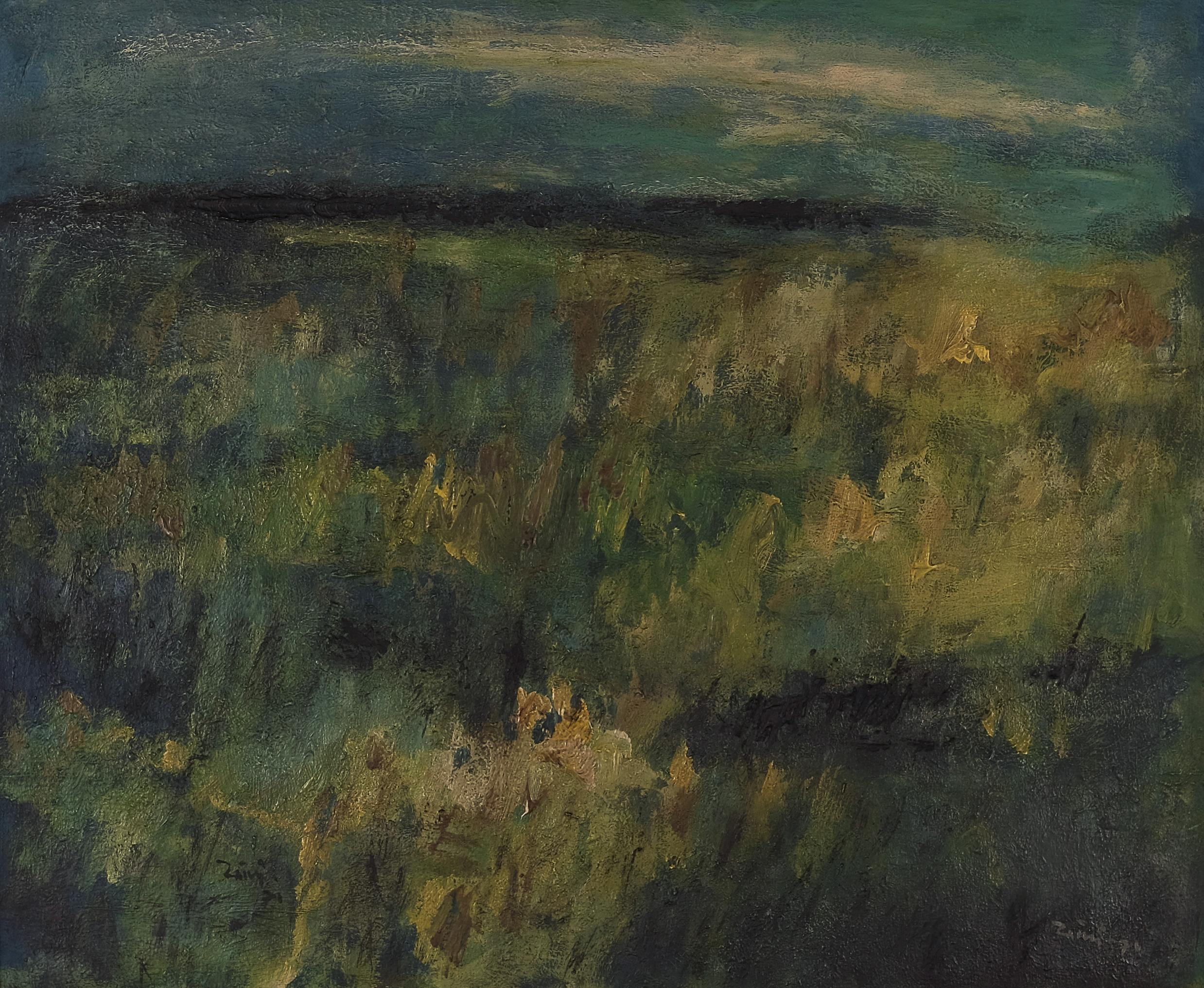 Zaini, Padang Rumput (Open Field), oil on canvas, 50.5 x 60