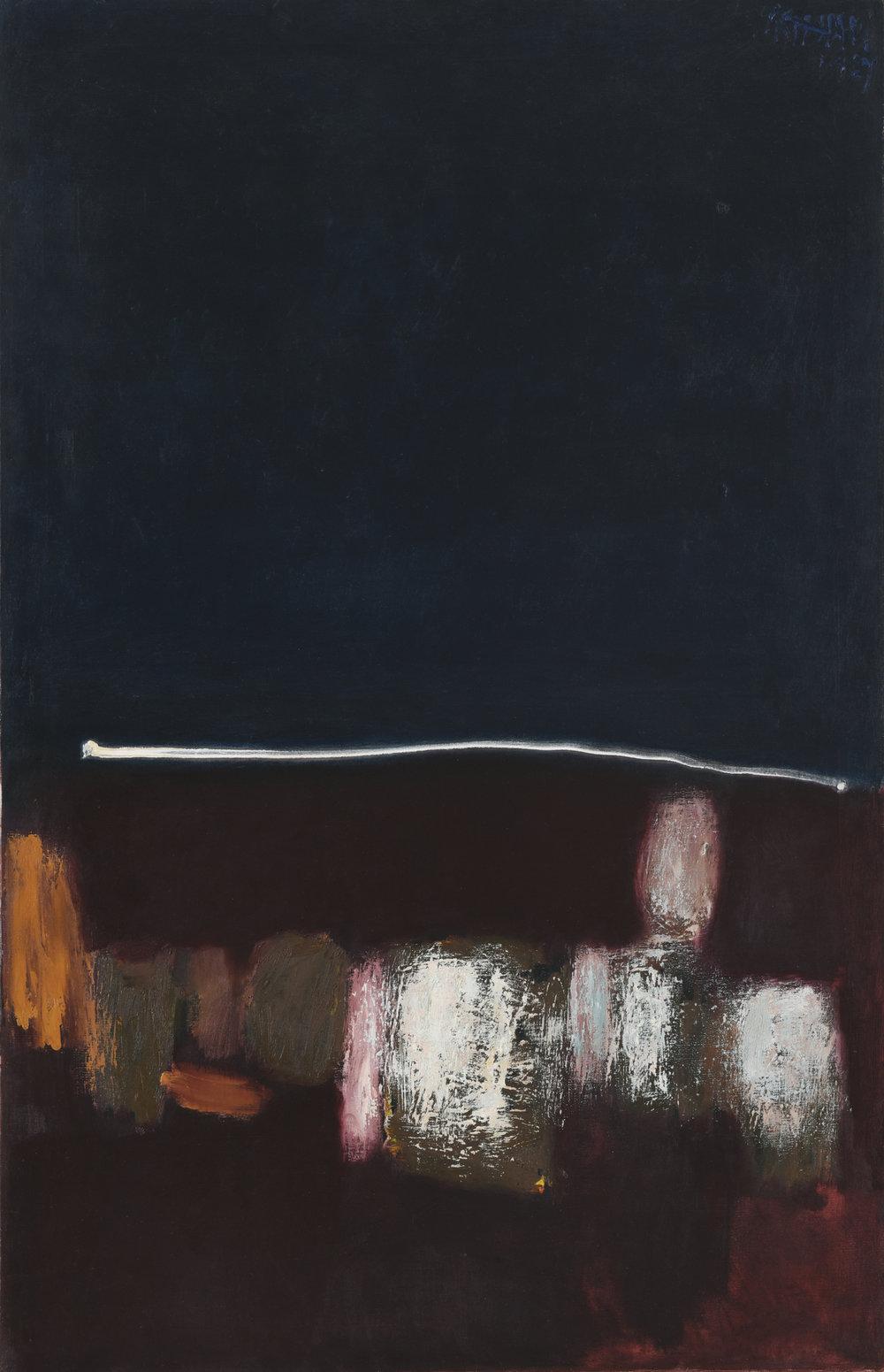 Srihadi Soedarsono, Seascape, oil on canvas, 142.5 x 92.5 cm, 1967