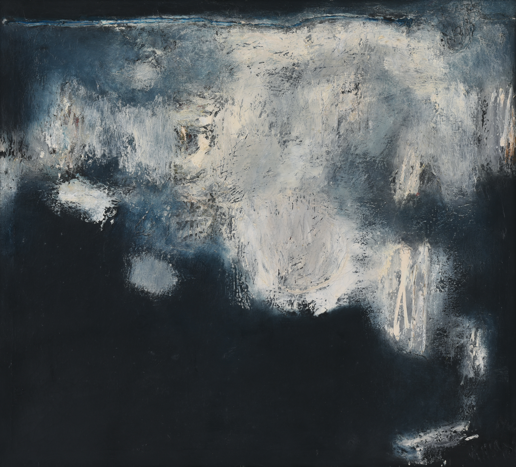 Srihadi Soedarsono, Rock On the Shore, 1966, 89 x 99 cm