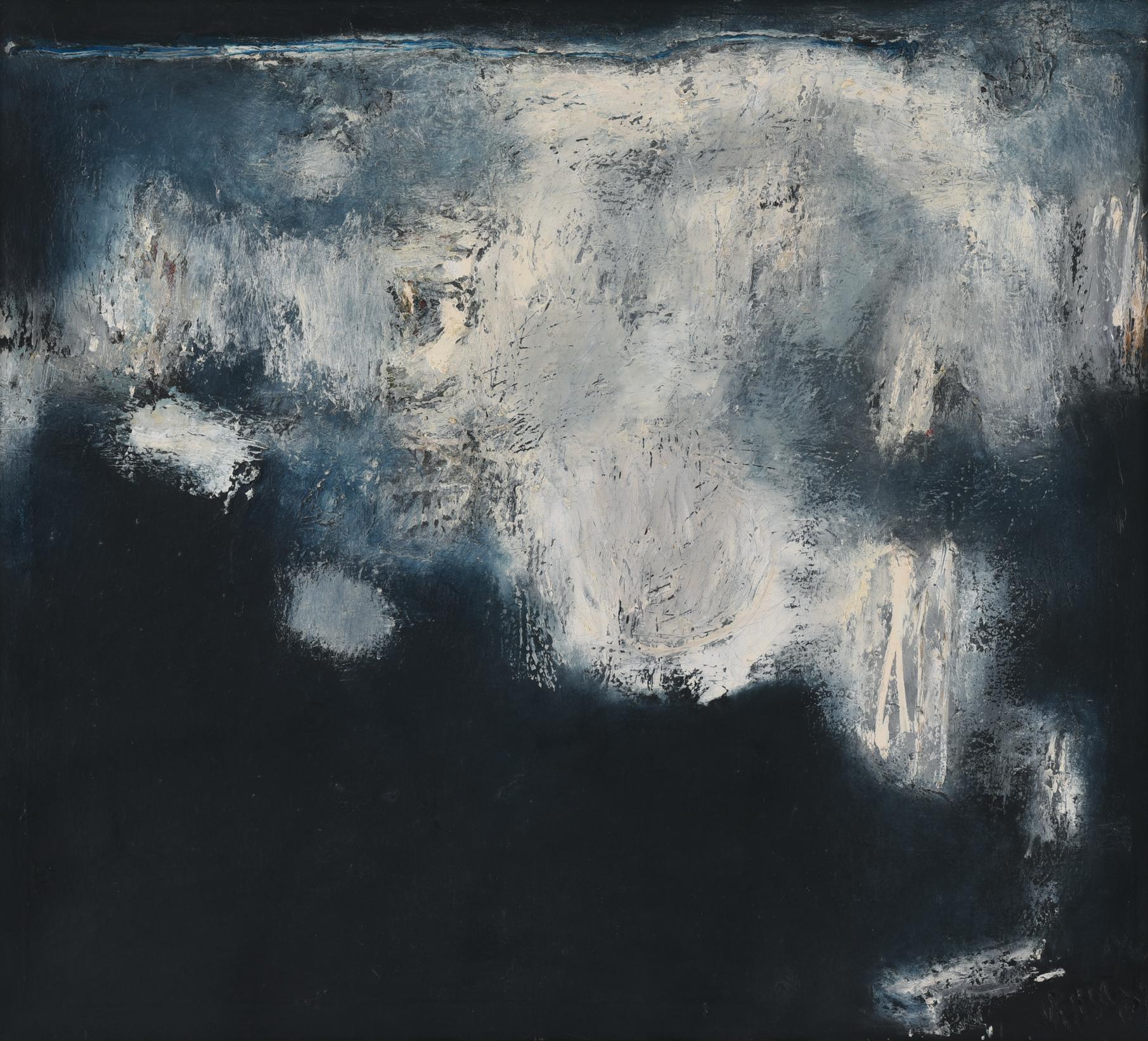 Srihadi Soedarsono, Rock On the Shore, oil on canvas, 89 x 99 cm, 1966