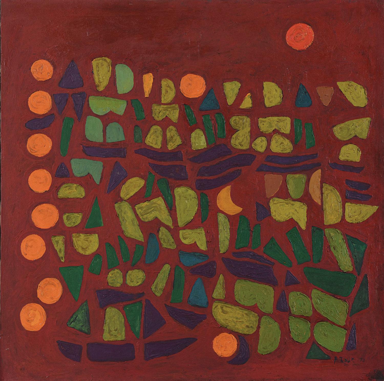 Fadjar Sidik, Untitled, oil on canvas, 90 x 90 cm, 1978
