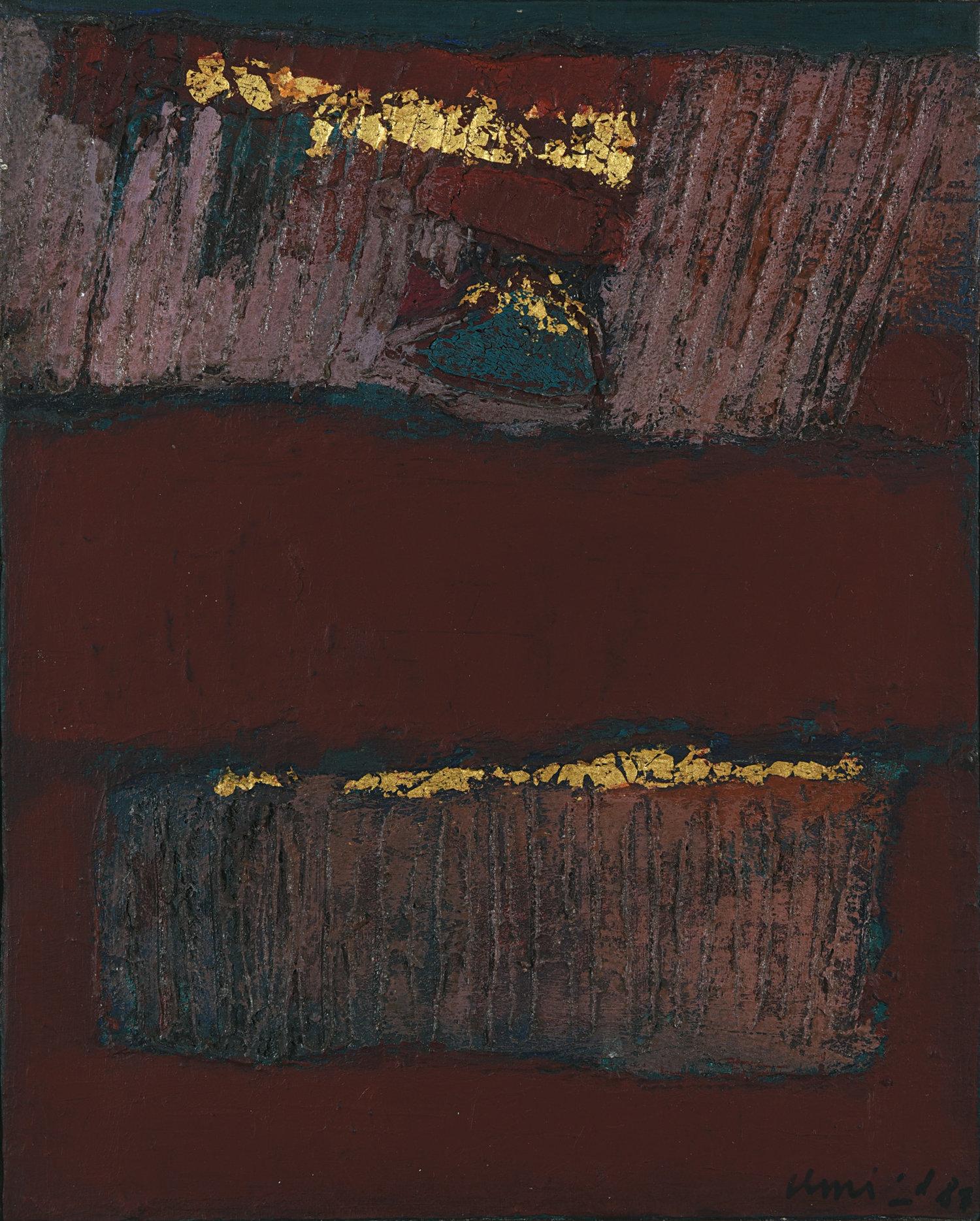 Umi Dachlan, Untitled, mixed media on canvas, 30 x 24 cm, 1987