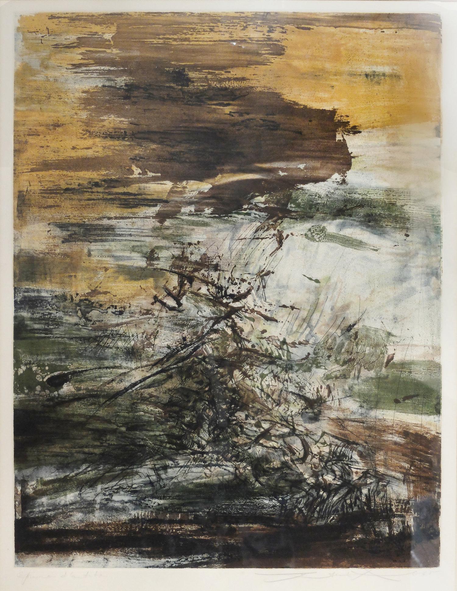 Zao Wou-Ki, Untitled, lithograph, 53.5 x 41 cm, 1965