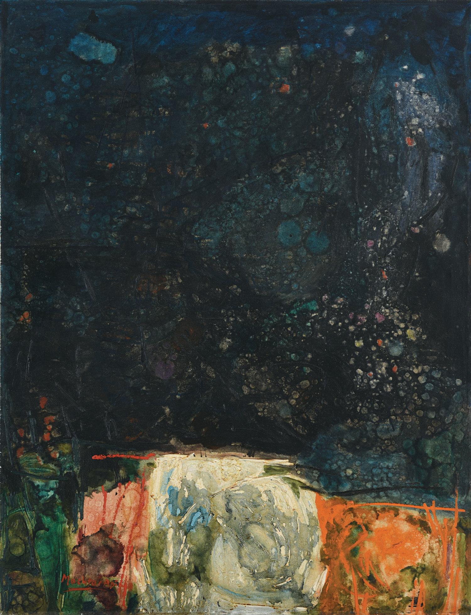 Mochtar Apin, Mendung (Cloudy), oil on canvas, 117 x 89 cm, 1964
