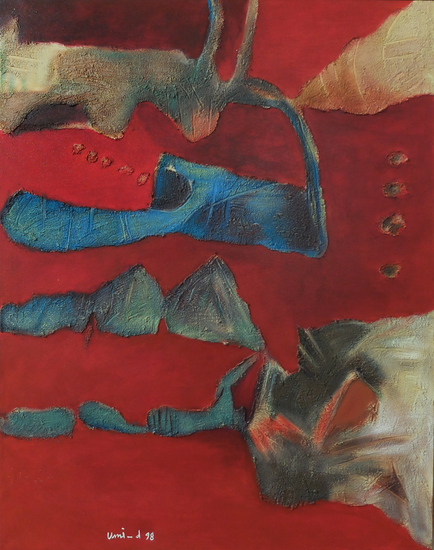 Umi Dachlan, Matador, oil on canvas, 95 x 75 cm, 1998