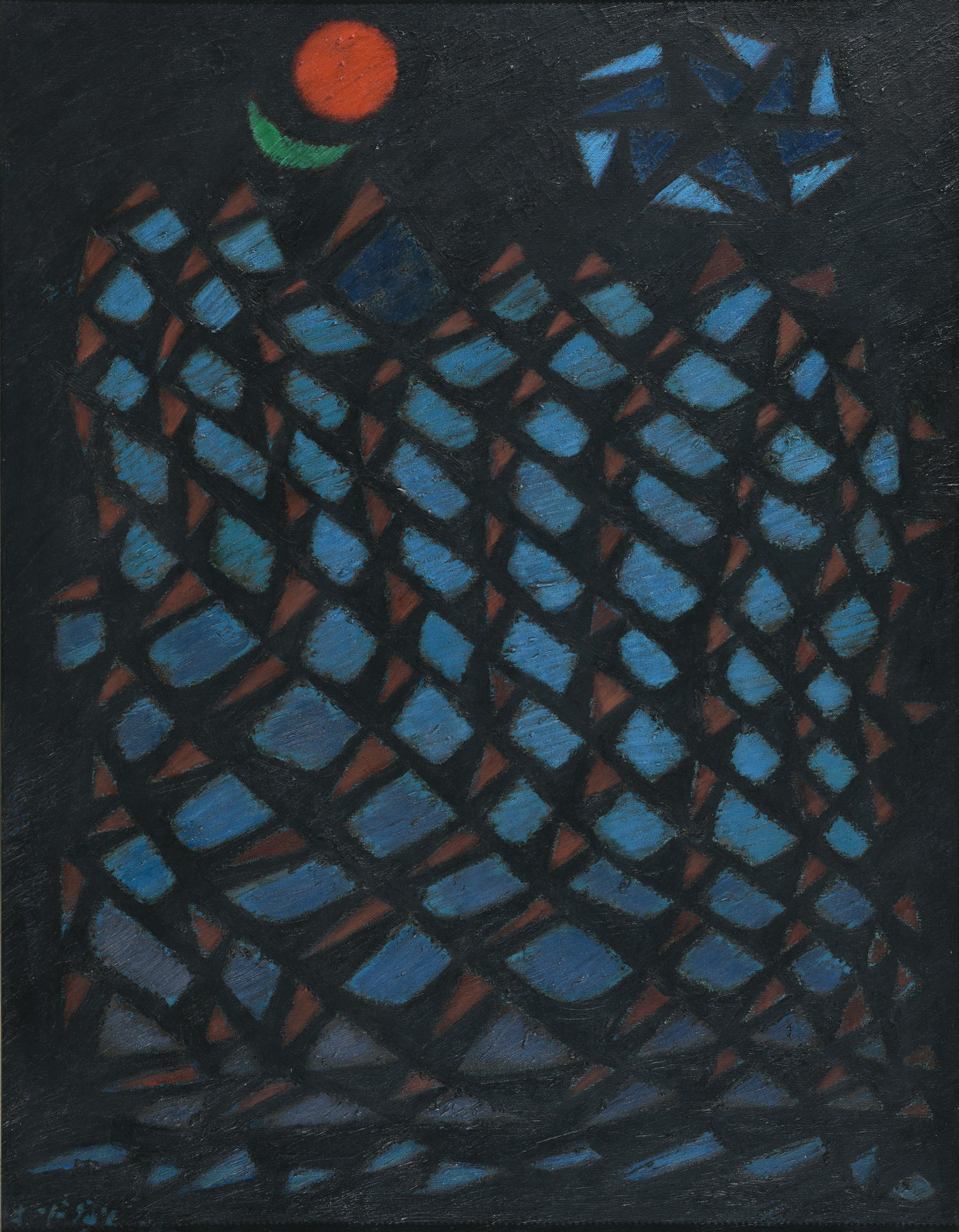 Fadjar Sidik, Untitled, oil on canvas, 88 x 68 cm, 1996
