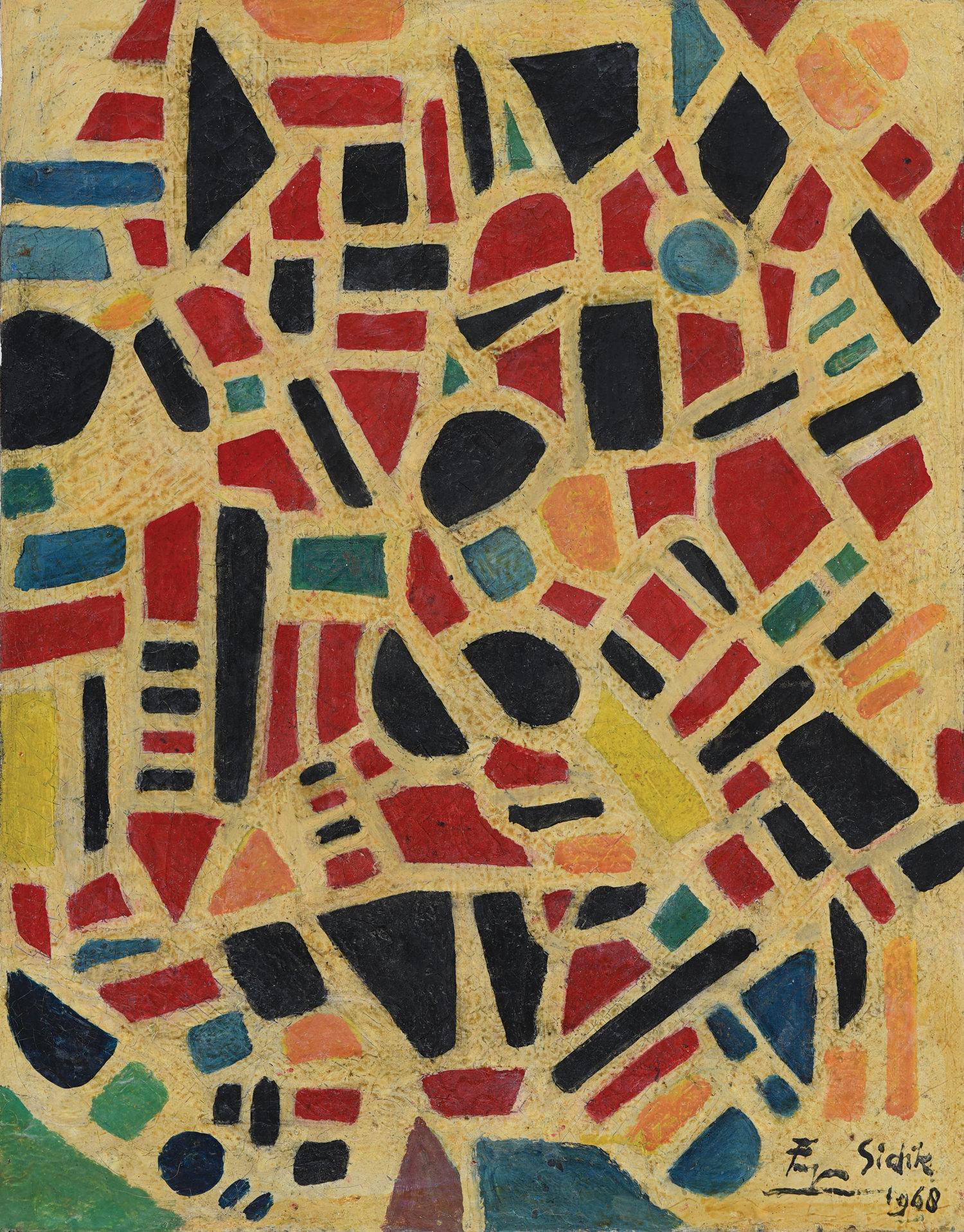 Fadjar Sidik, Untitled, oil on canvas, 70 x 55 cm, 1968
