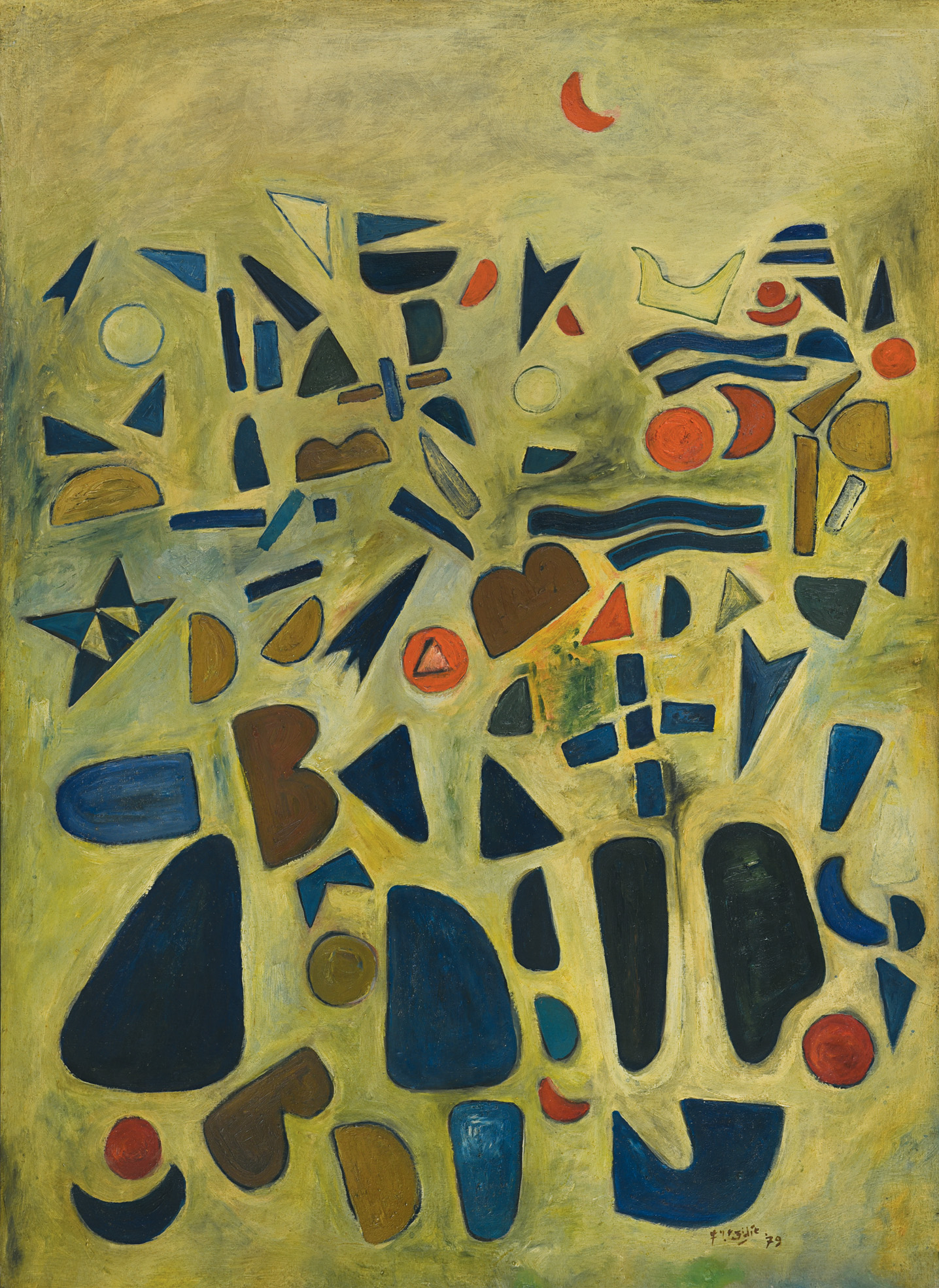 Fadjar Sidik, Untitled, oil on canvas, 115 x 84 cm, 1979