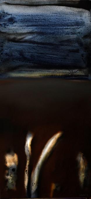 Jolly Koh, Night Sky (Triptych), acrylic on canvas, 137 x 71 cm, 2002