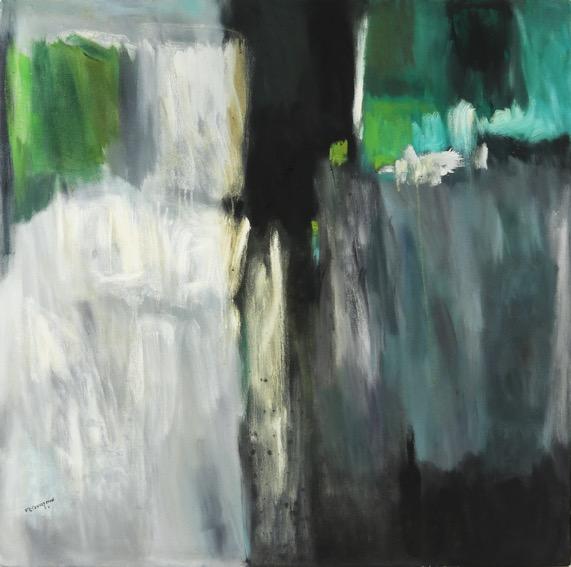 Florencio B Concepcion, Abstract I, oil on canvas, 92 x 91 cm
