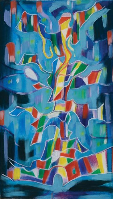 Oesman Effendi, Alam Pedesaan, oil on canvas, 124 x 70.5 cm, 1979