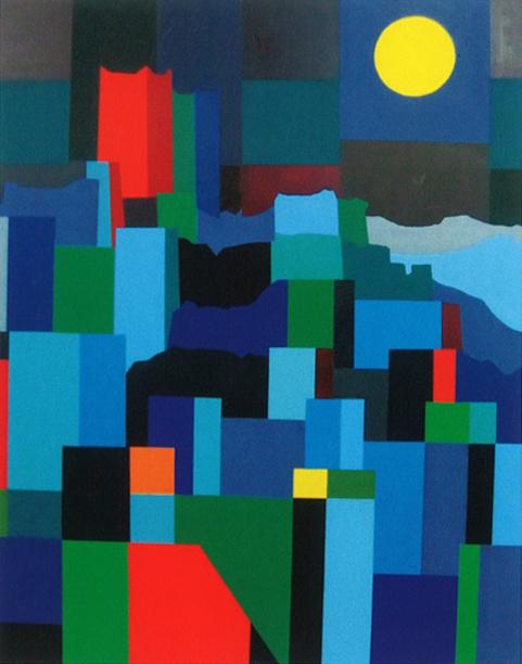 Chia Hearn Check, Lunar, acrylic on canvas, 152 x 122 cm, 2014