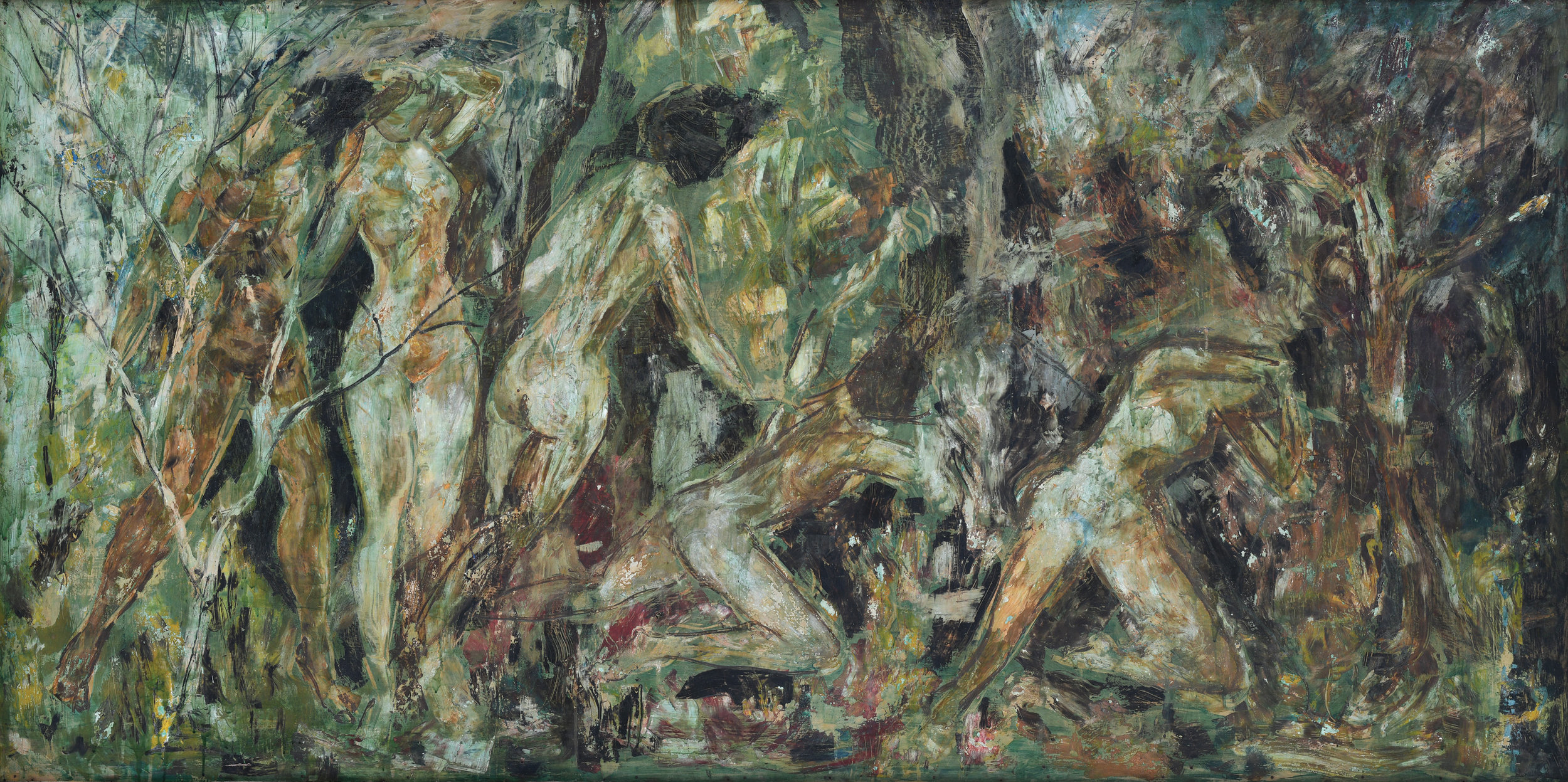 Vincent Hoisington, The Expulsion from Eden, oil on board, 130 x 240 cm, 1964