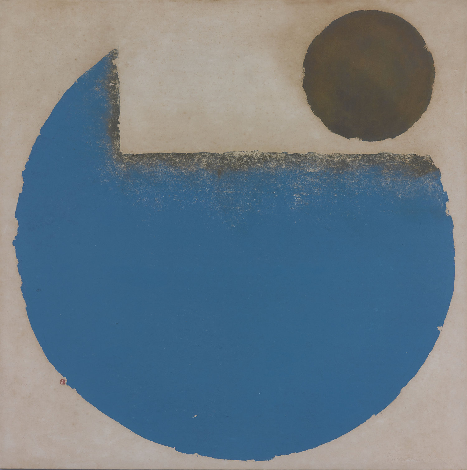 Chen Ting-Shih, Rhythm of the Sea, woodcut print, 91.5 x 91.5 cm, 1969