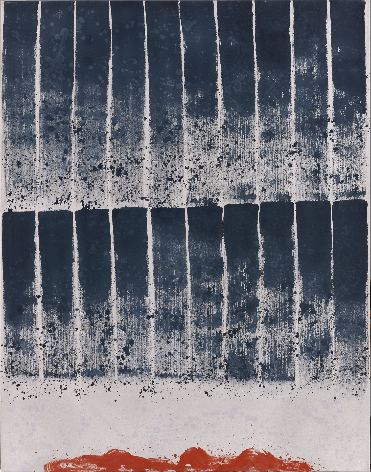 Hsiao Chin, Chi 296, acrylic on canvas, 140 x 110 cm, 1985