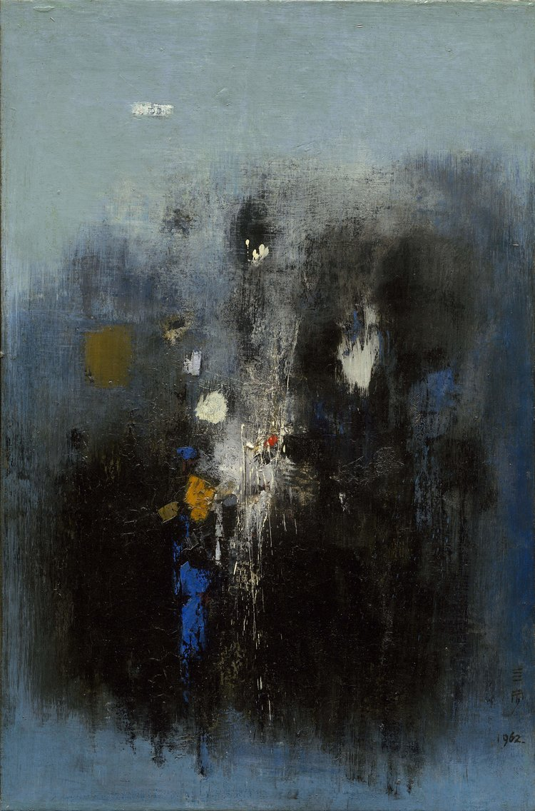 Cheong Soo Pieng, Void, oil on canvas, 101.5 x 80 cm, 1962