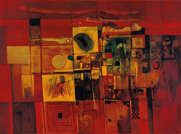 Cheong Soo Pieng, Twilight, oil on canvas, 71 x 96.5 cm, 1967