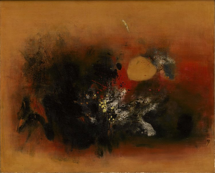 Cheong Soo Pieng, Strangeness, oil on canvas, 80 x 101.5 cm, 1963