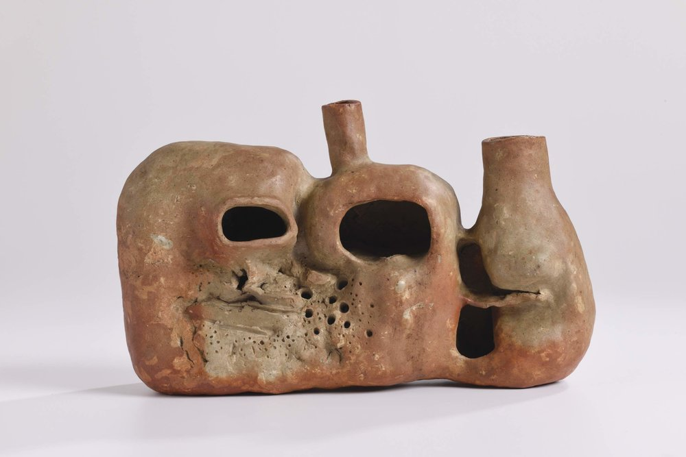 Cheong Soo Pieng, Untitled, fired earthenware, 42 x 21 x 16 cm, 1960-1970