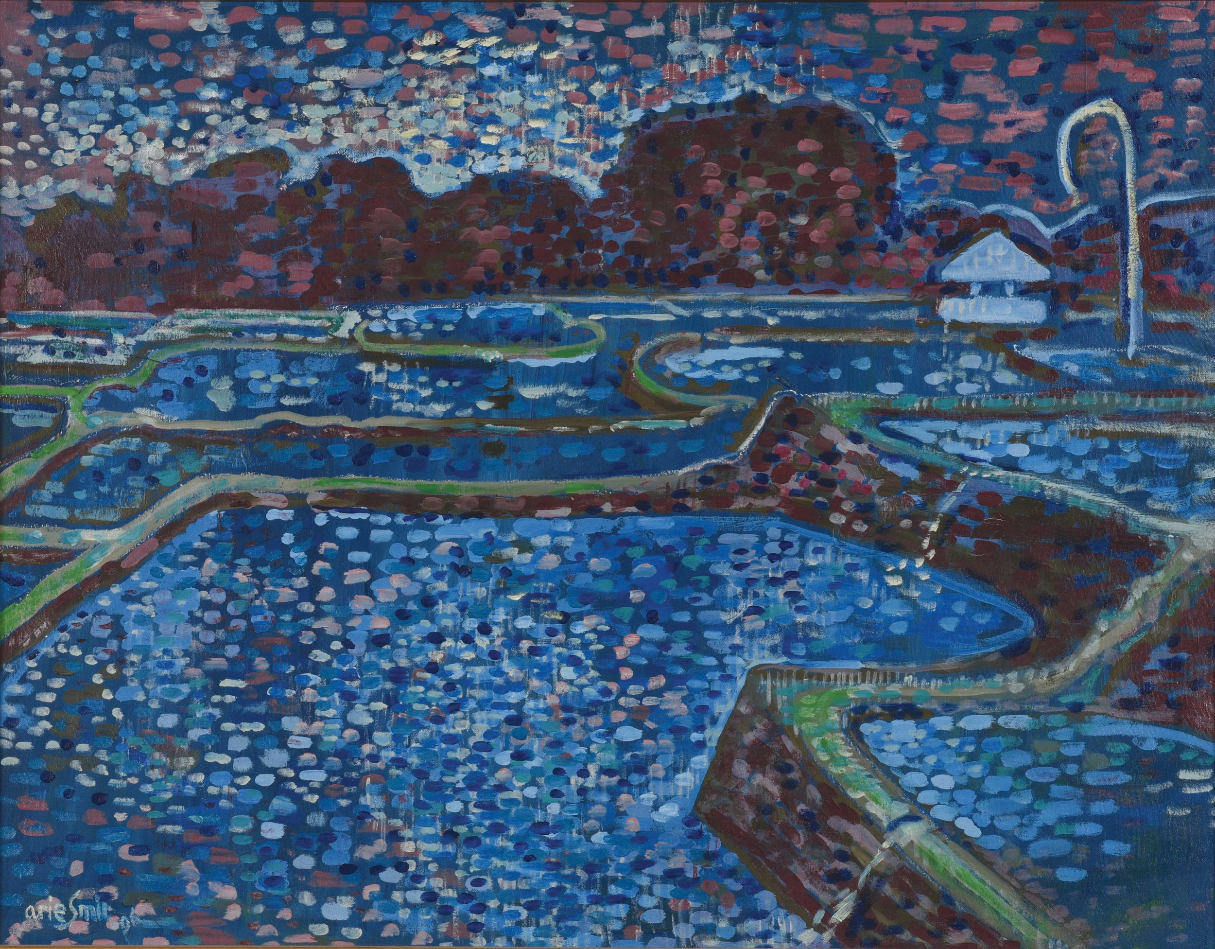 Arie Smit, Night Sky and Flooded Rice Terraces, 1996