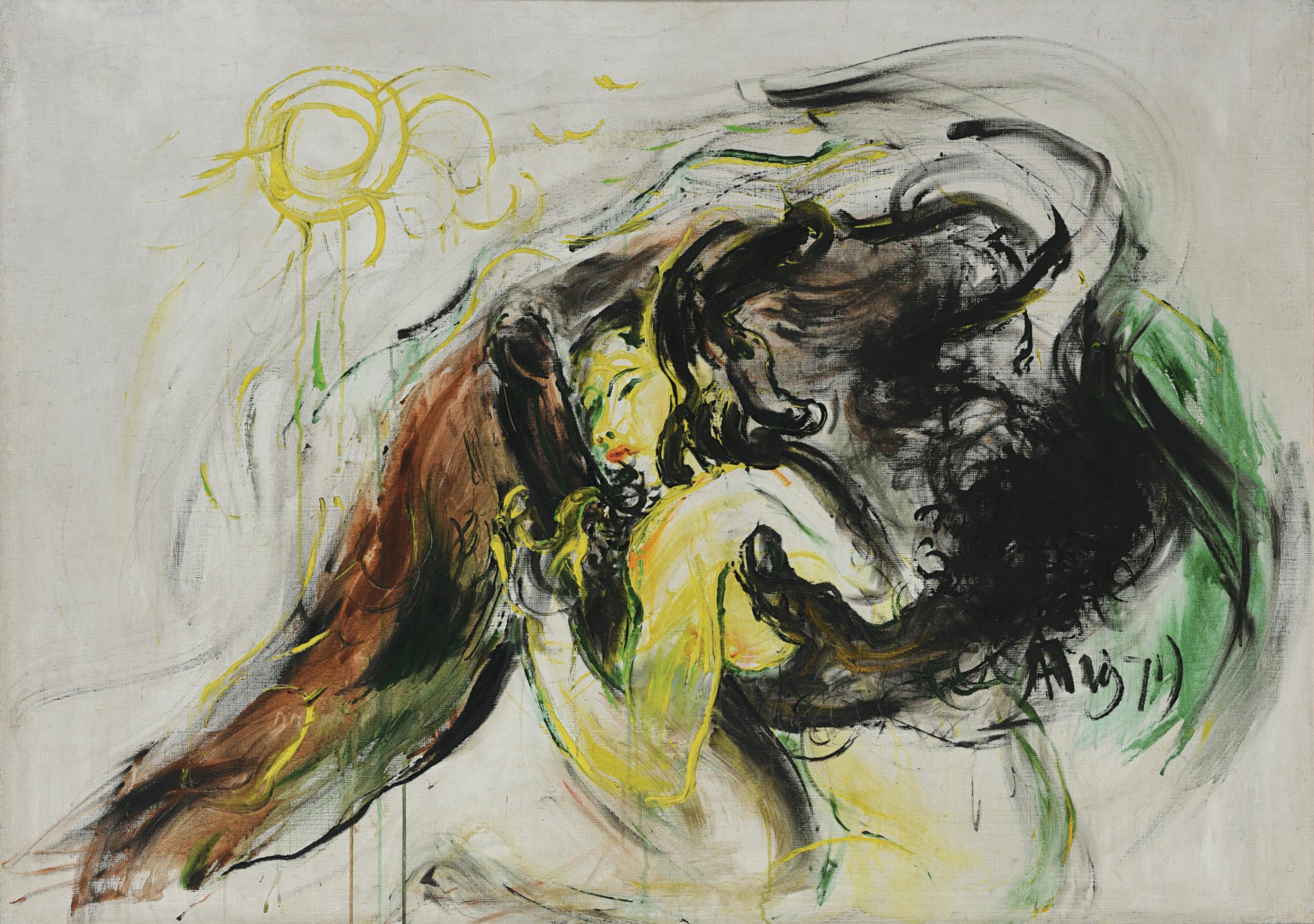 Affandi, Erotic, 1971, 99 x 138 cm