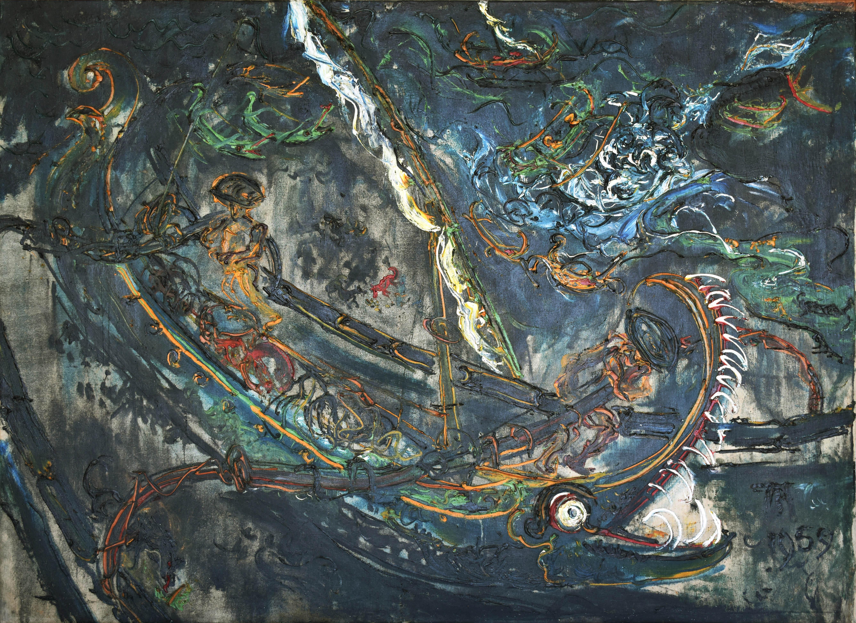 Affandi, Perahu, 1959, 103 x 140 cm