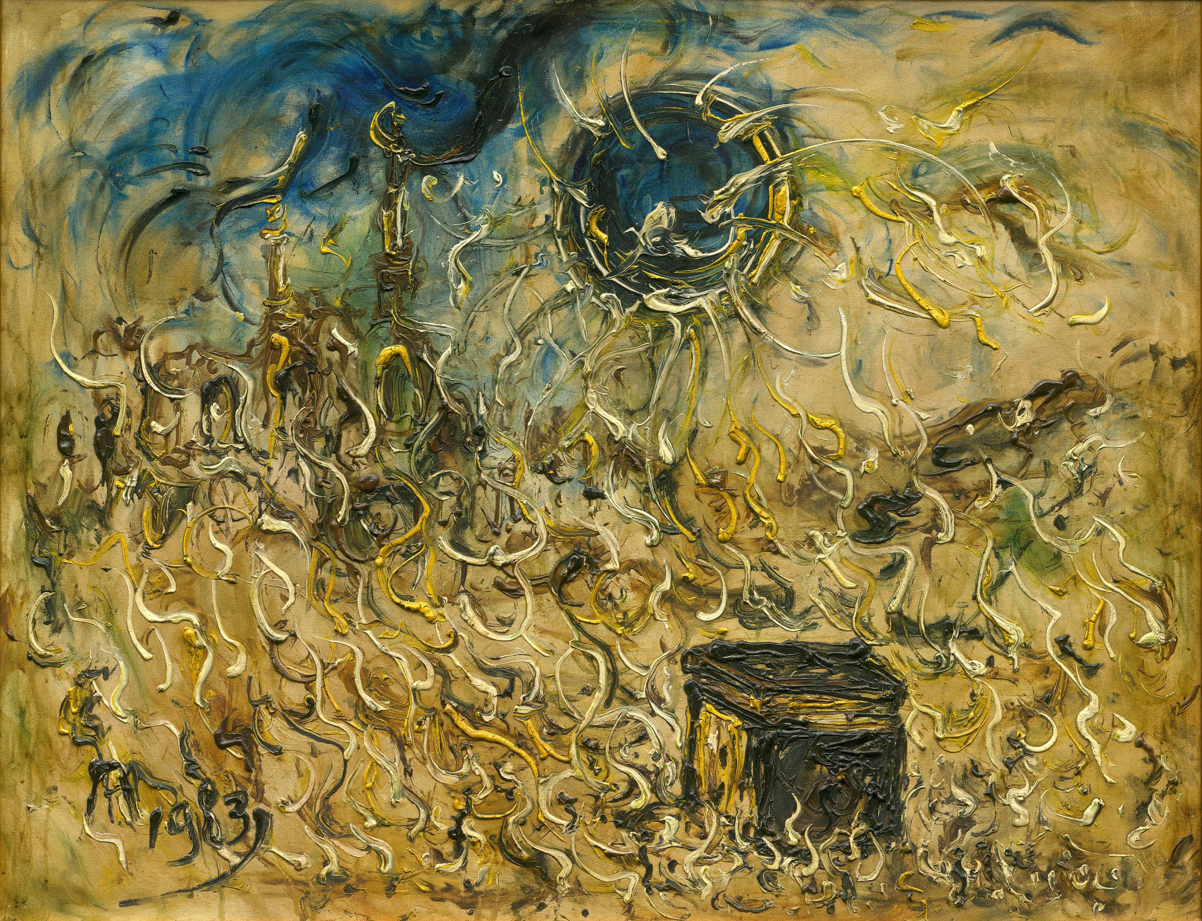 Affandi, Ka'abah, 1983, 100 x 125 cm
