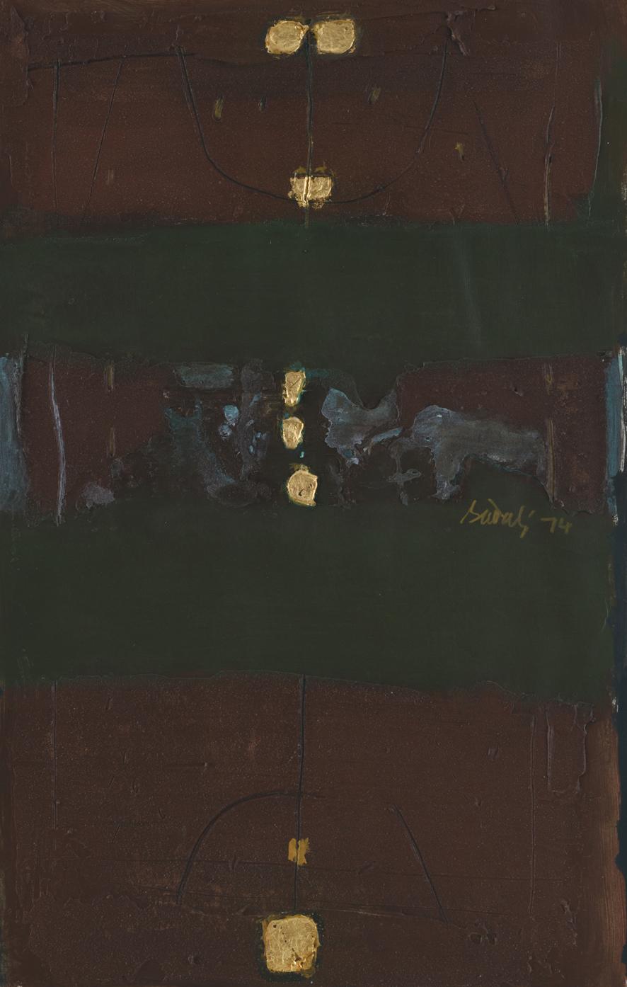 Ahmad Sadali, Untitled, 1974, 48 x 30 cm