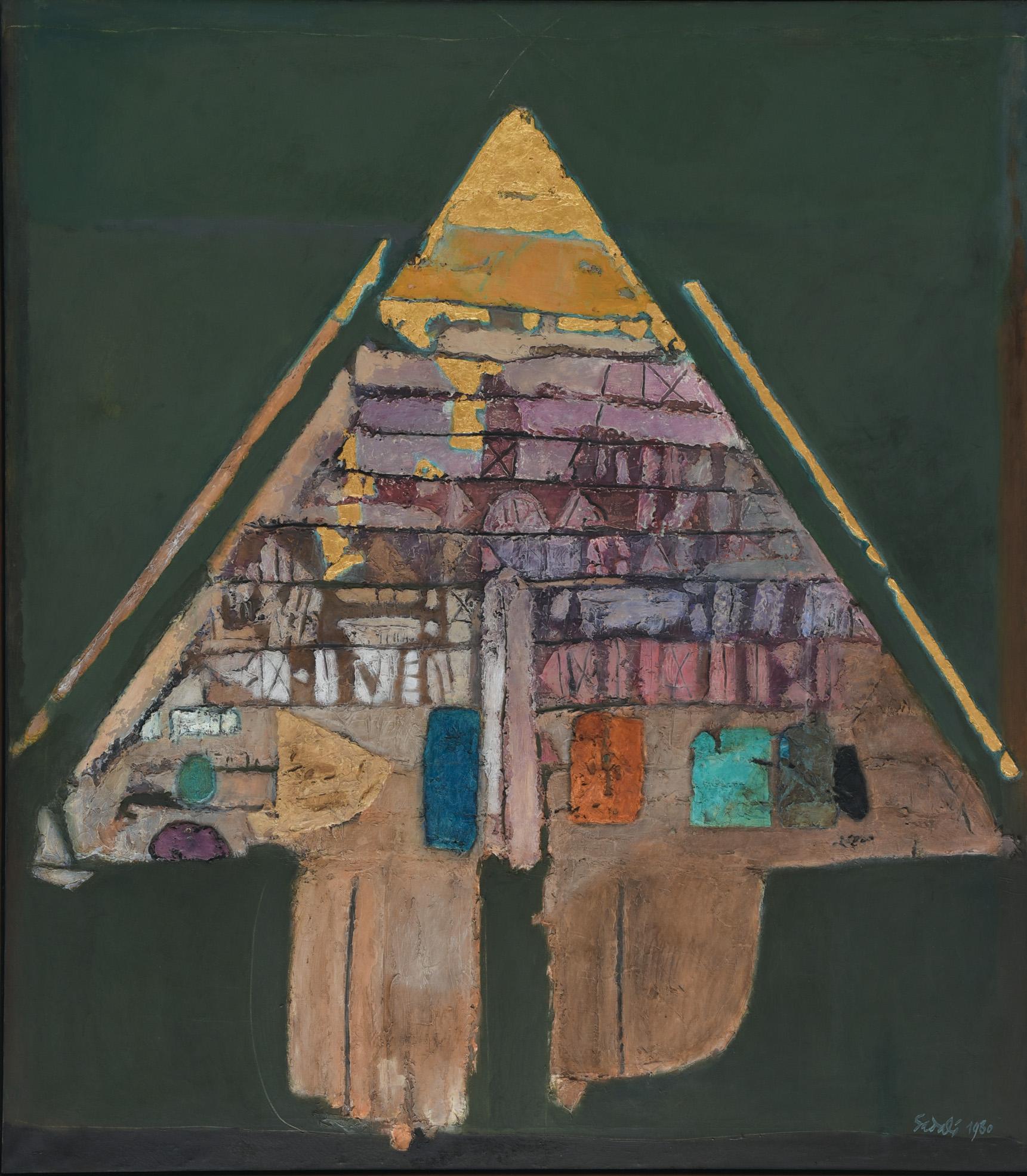 Ahmad Sadali, Gunungan, 1980, 200 x 175 cm