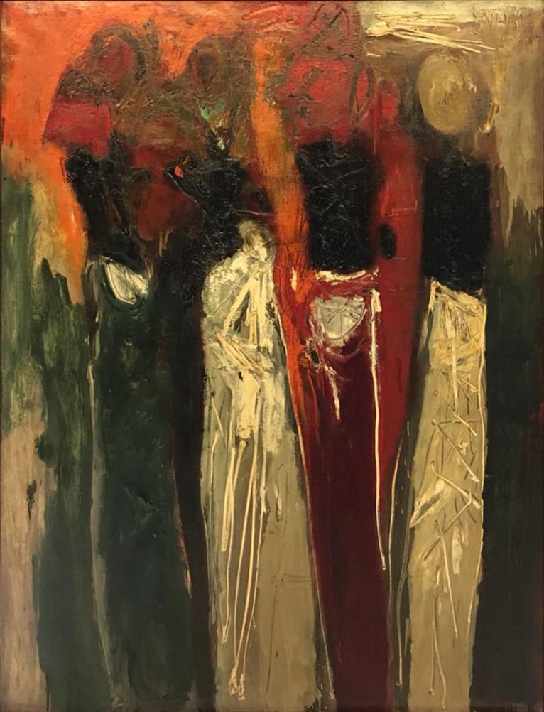 Srihadi Soedarsono, Wayang Golek, 1969, 130 x 100 cm