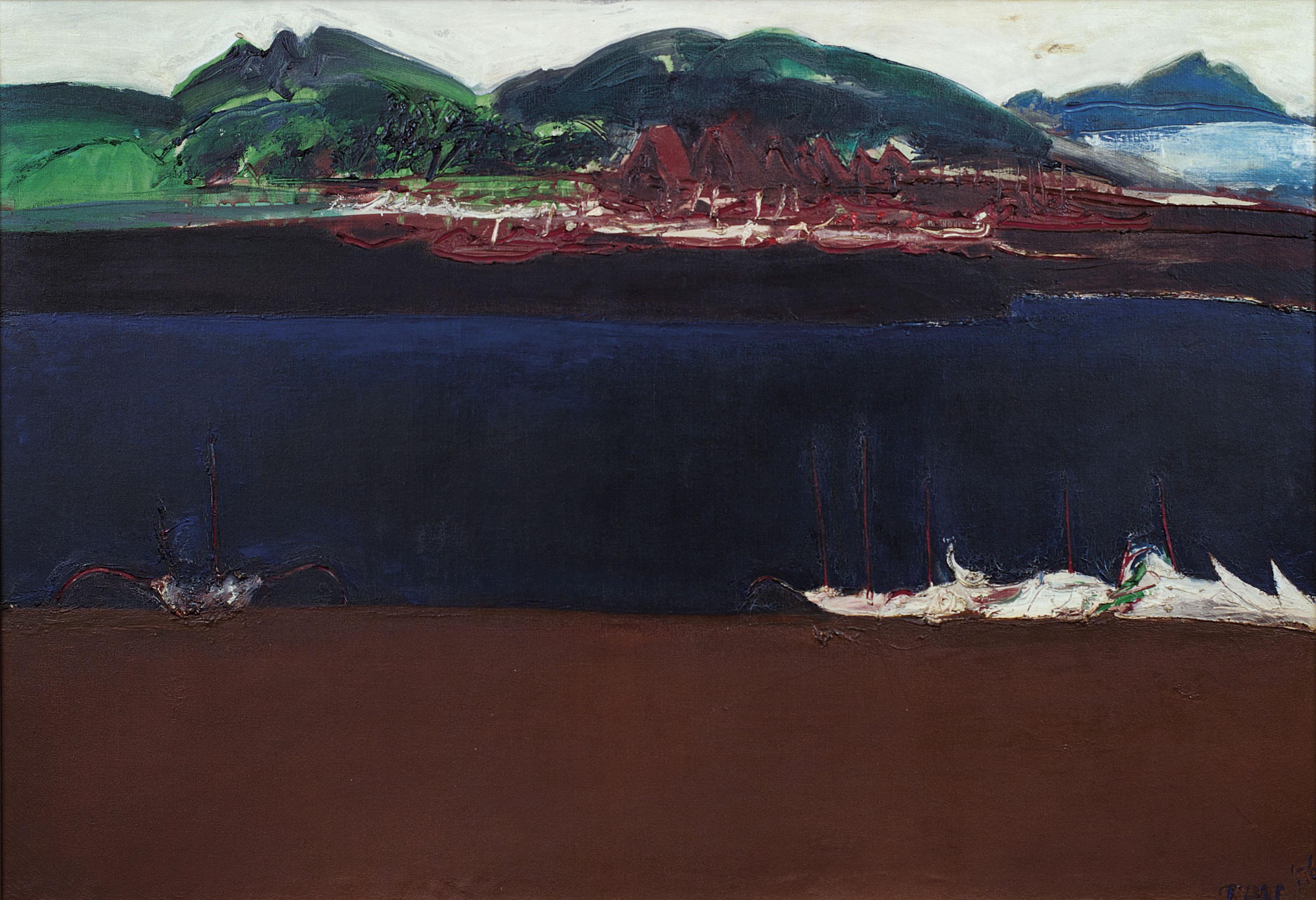 Srihadi Soedarsono, Vessels, 1976, 100 x 145 cm