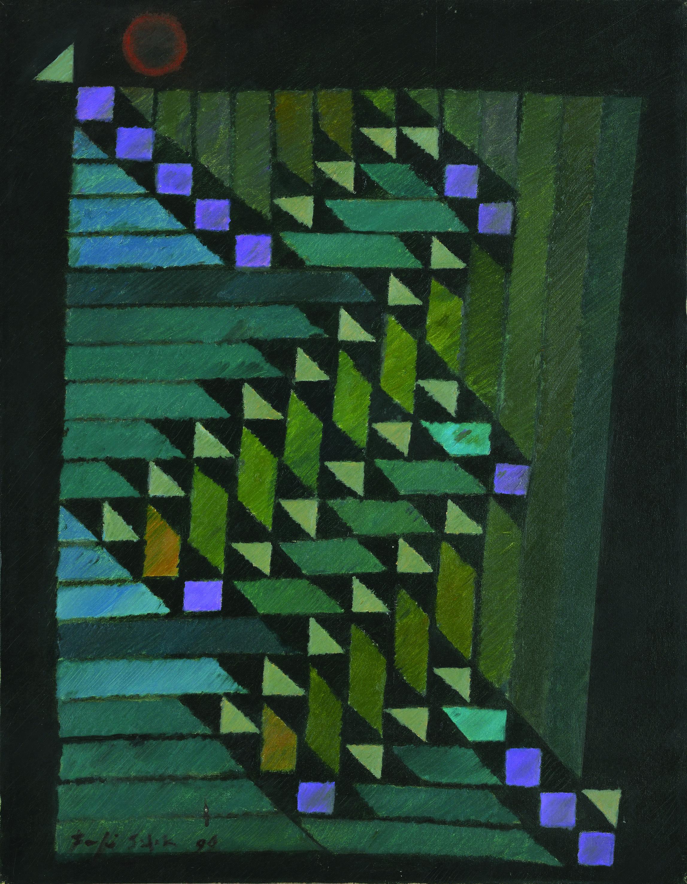 法賈希迪, 大都會,1996,油彩畫布,90 x 70 cm
