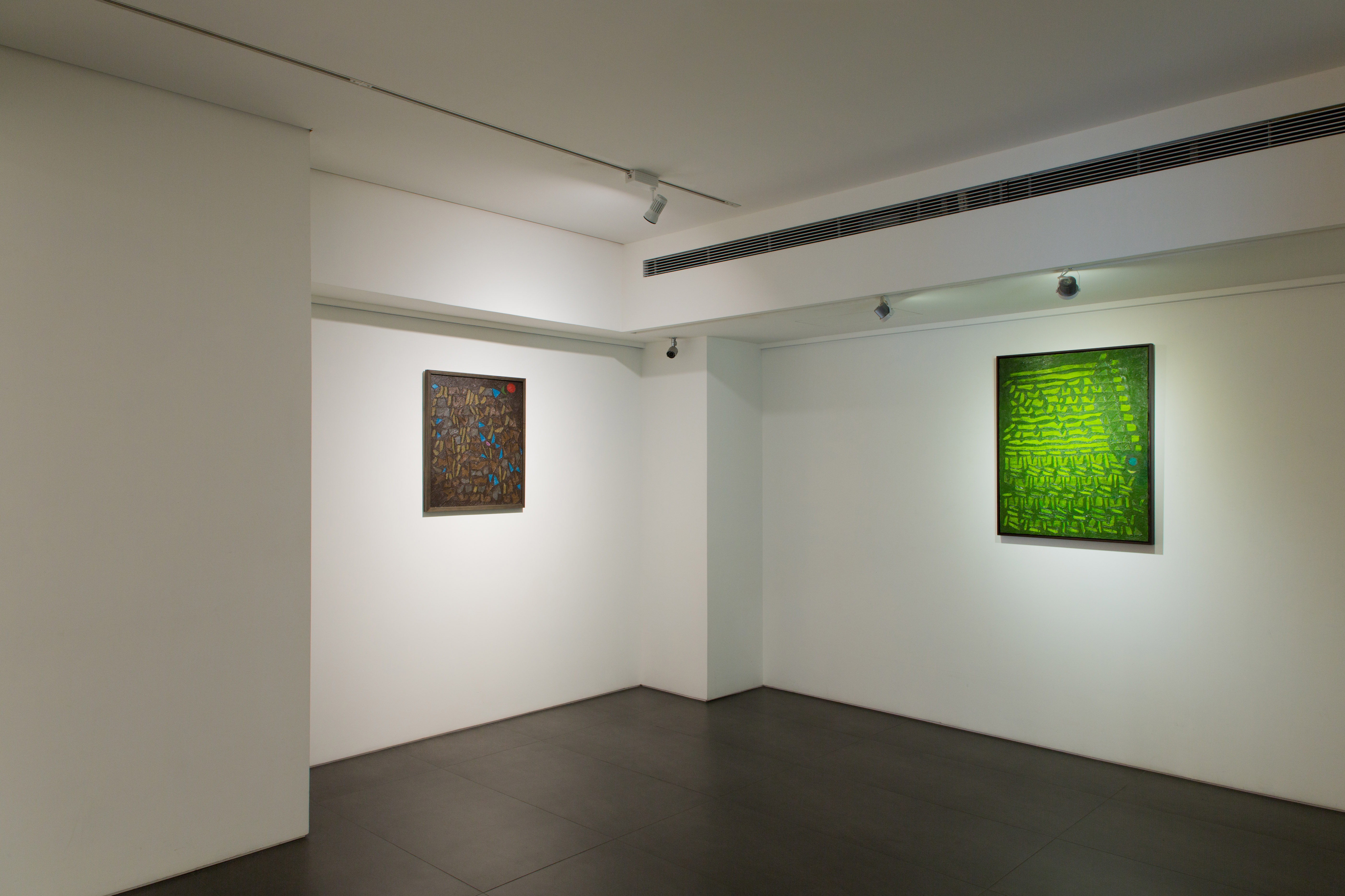 An image of the gallery set up for the exhibition: Fadjar Sidik - Space Dynamics