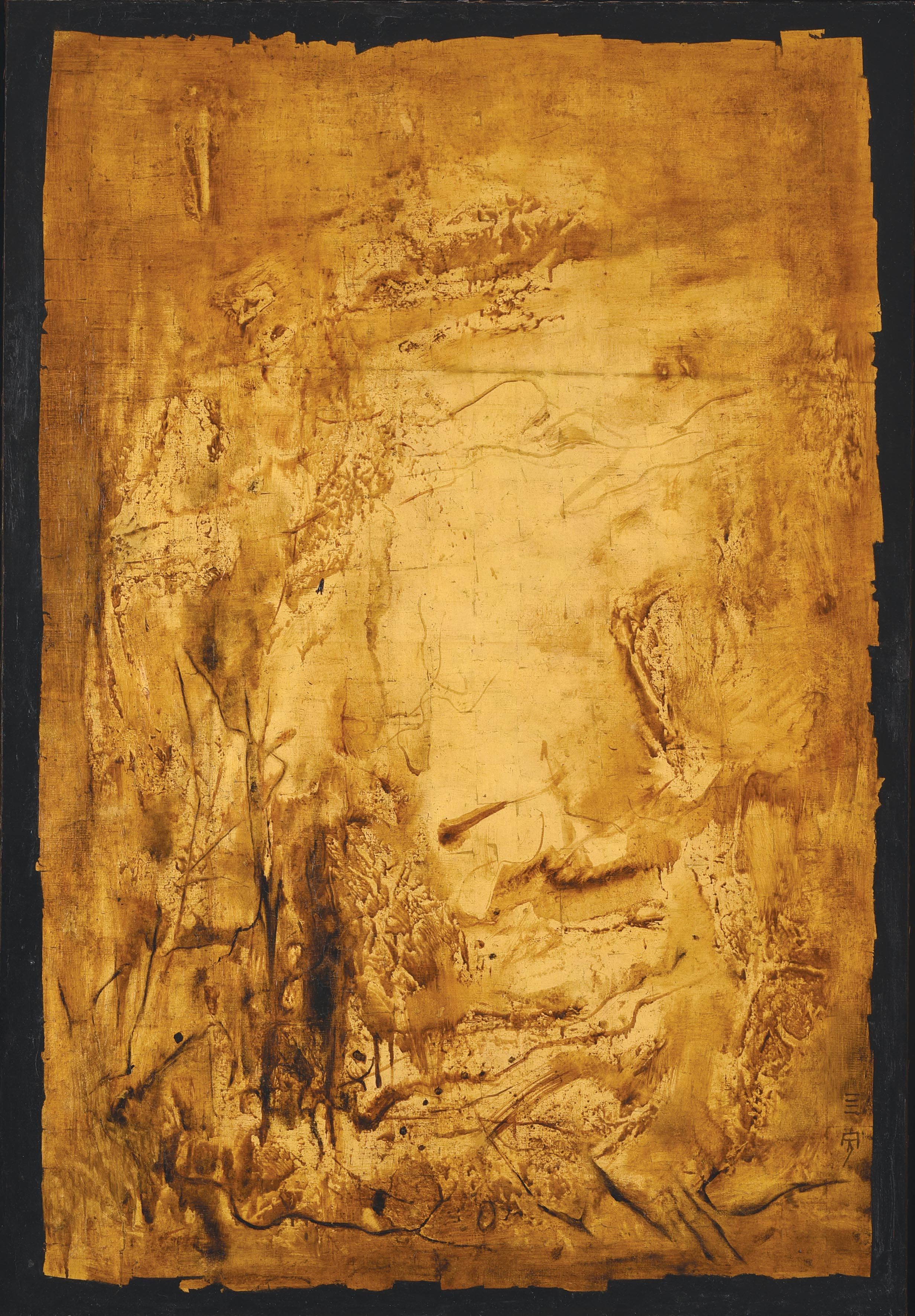 Cheong Soo Pieng, Nature, mixed media on canvas, 148 x 101.5 cm, 1965