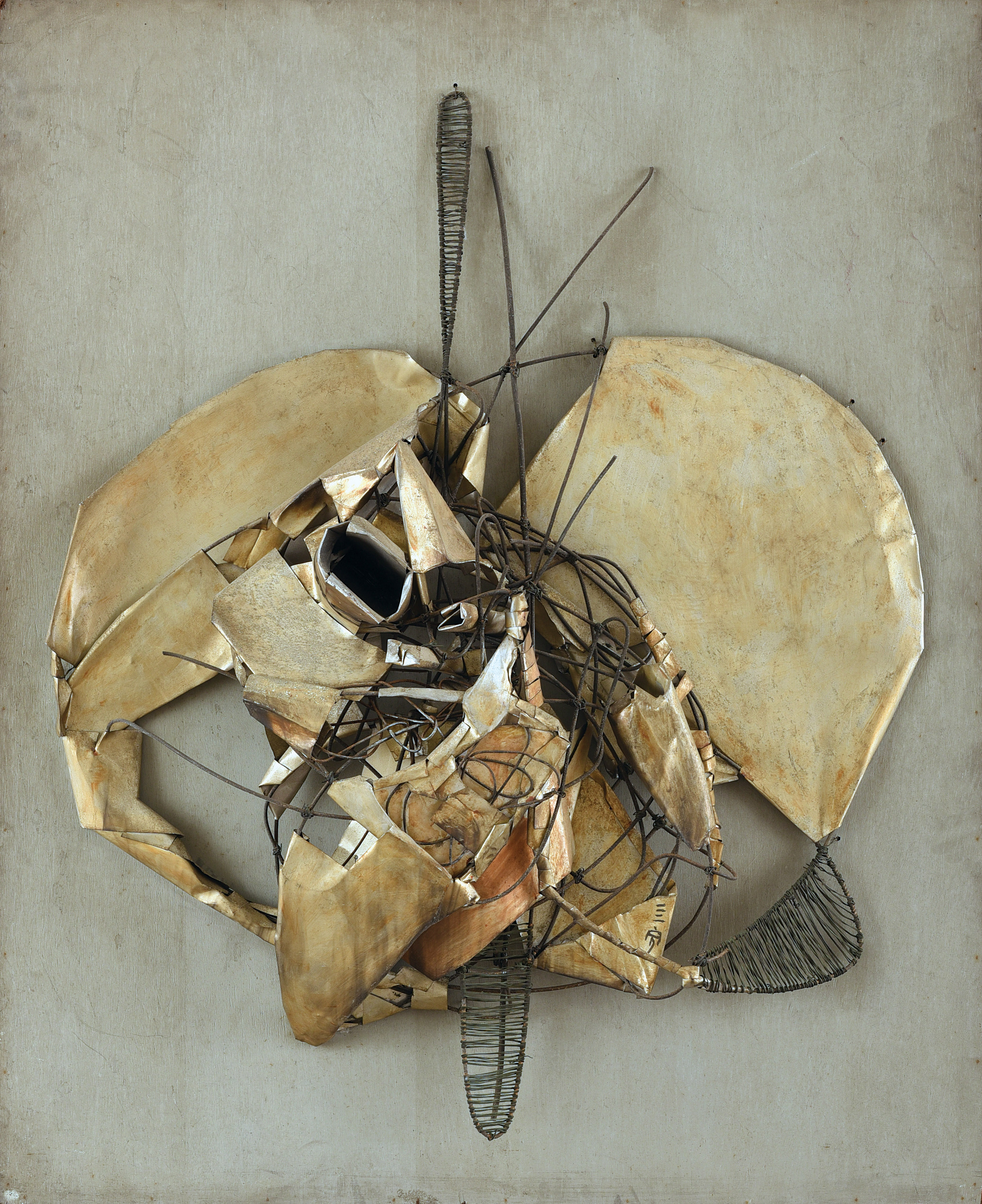 Cheong Soo Pieng, Deep Thought, mixed media relief on board, 96 x 80 x 19 cm, 1967