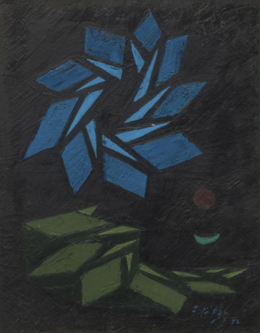 Fadjar Sidik, Mandala, oil on canvas, 90 x 70 cm, 1995