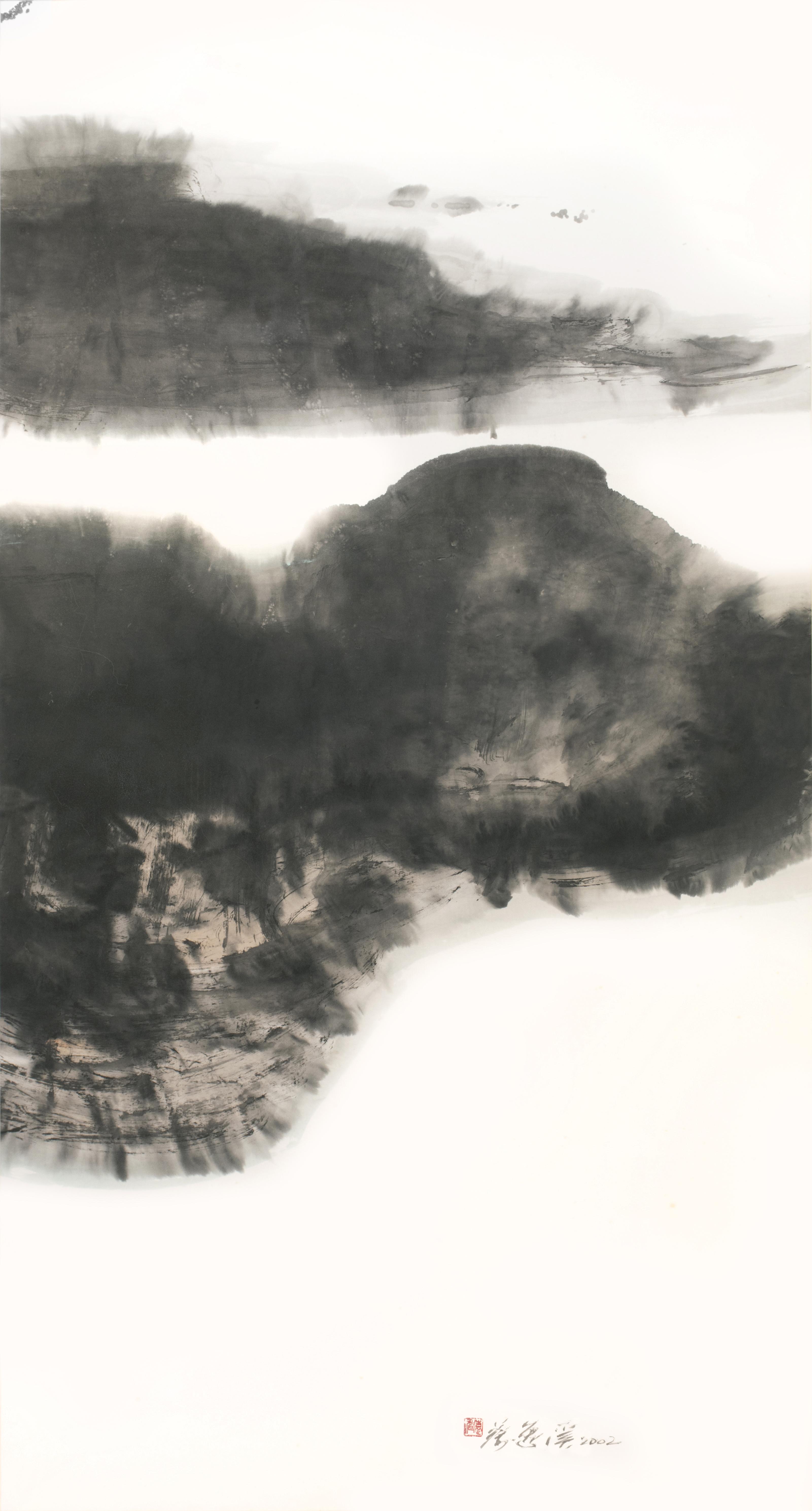 Chua Ek Kay, Archipelago, ink and colour on paper, 151 x 81 cm, 2002