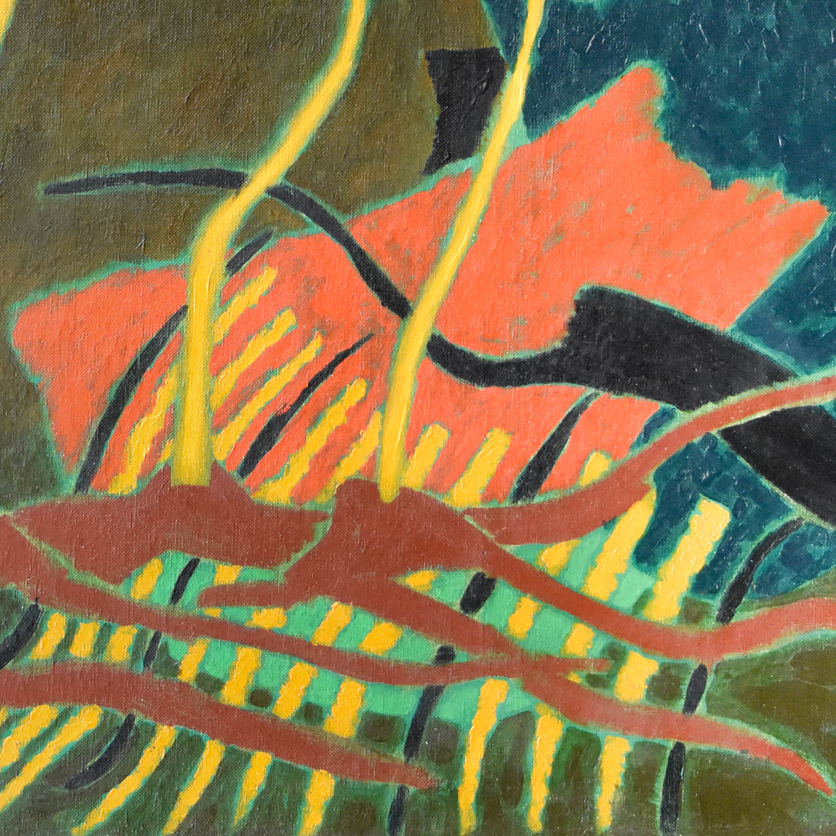 Nashar, Vines, oil on canvas, 64 x 92.5 cm, 1984 (detail)