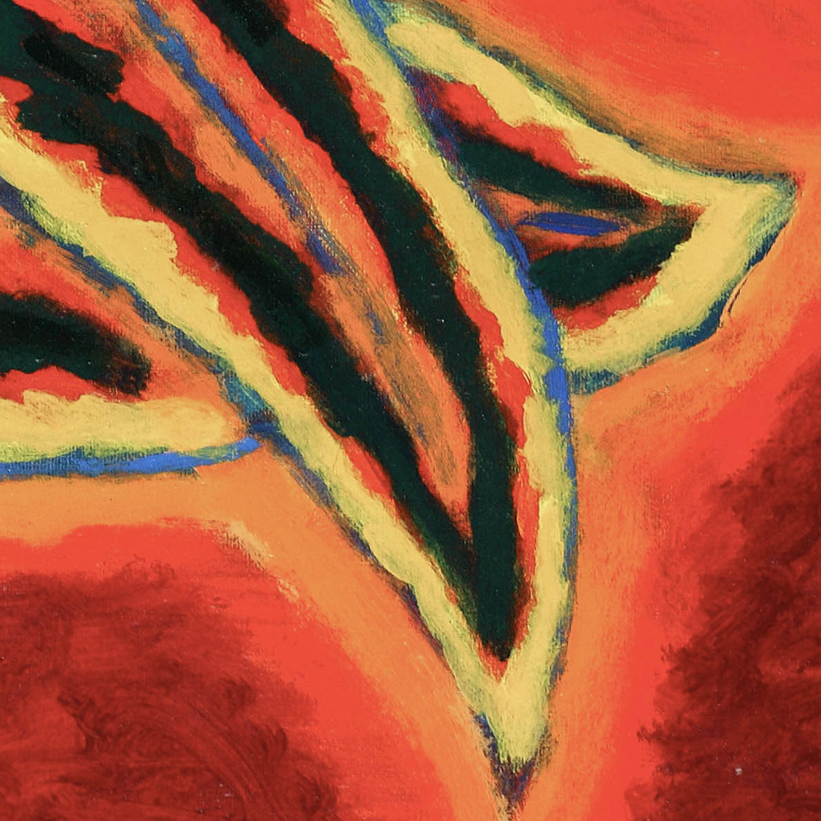 Nashar, Irama Alam (Nature's Rhythm), oil on canvas, 61 x 91.5 cm, 1993 (detail)